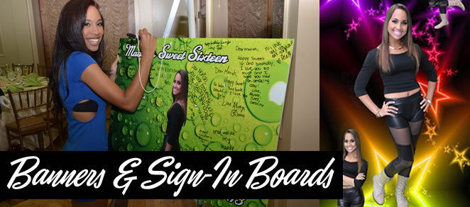 banners and sign in boards