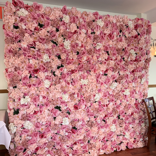 Pink Flower Wall Nyc