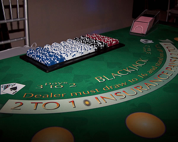black jack table rental ny