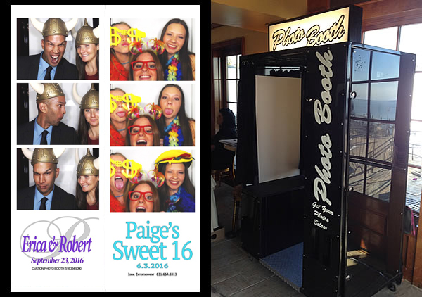 King Photo Booth (Black) with strips