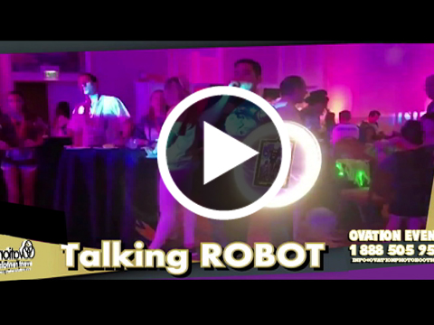 Robot Photo Booth Rentals by Ovation Event Rentals